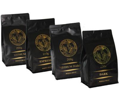 coffee sample selection