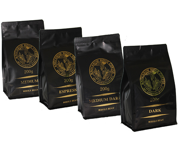 coffee sample selection